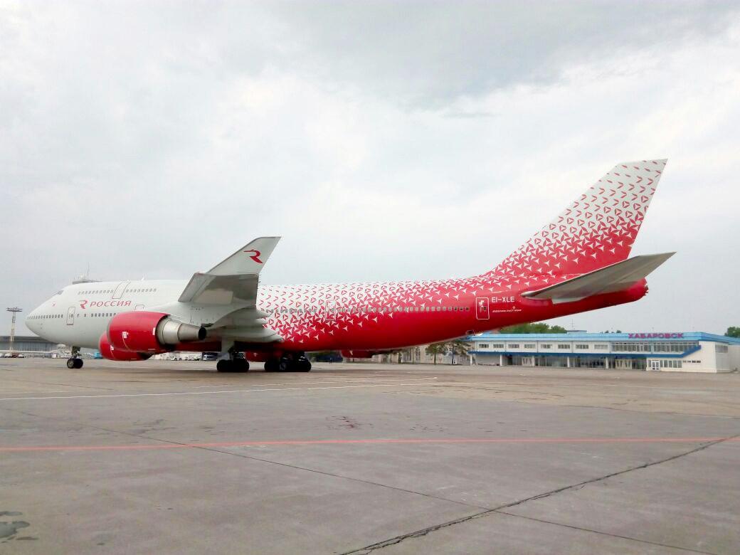 Boieng 747-400, EI-XLE, Россия маршрутом Москва (Внуково) - Хабаровск(Новый) - Москва (Внуково)