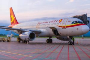 Tianjin Airlines в аэропорту Владивостока