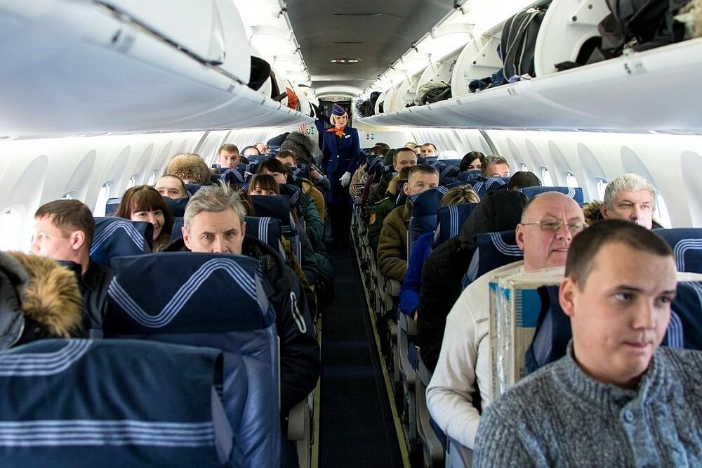 пассажиры авиакомпании аврора