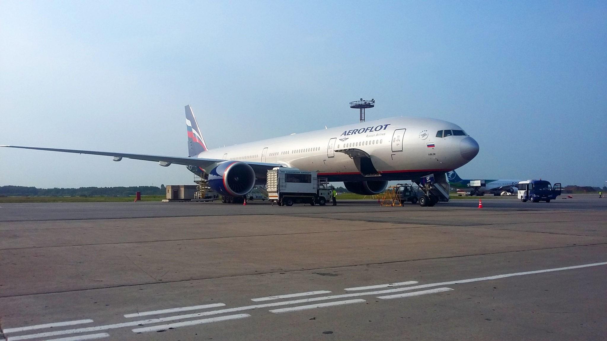 Boieng 777-300ER, AFL, VQ-BQF (А. Блок) рейсом 1710/1711 - Москва (ШРМ) - Хабаровск - Москва (ШРМ)