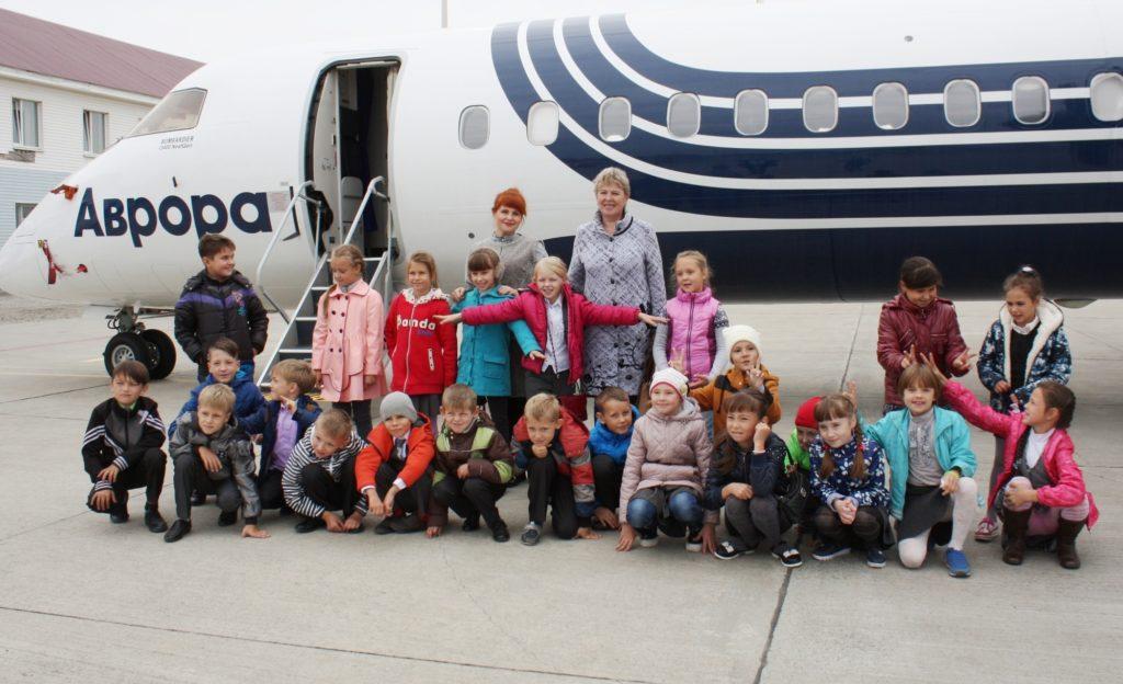 В аэропорту Южно-Сахалинска провели экскурсию для школьников.