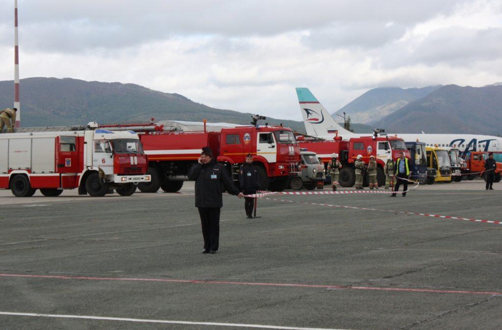 В аэропорту Южно-Сахалинска прошли комплексные учения