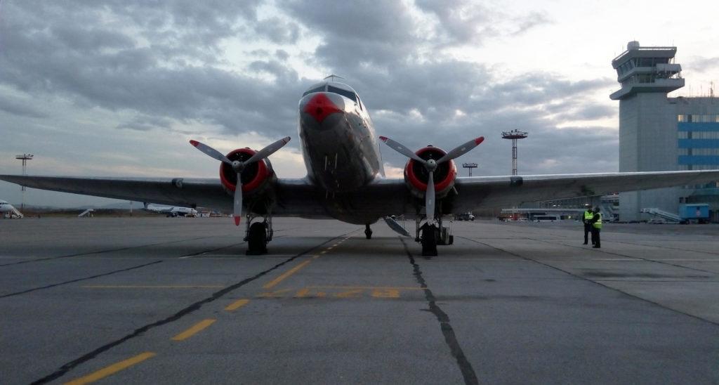 Знаменитый самолет Дуглас посетил аэропорт Хабаровска