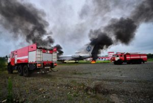 В аэропорту Владивостока прошил тактико - специальные учения