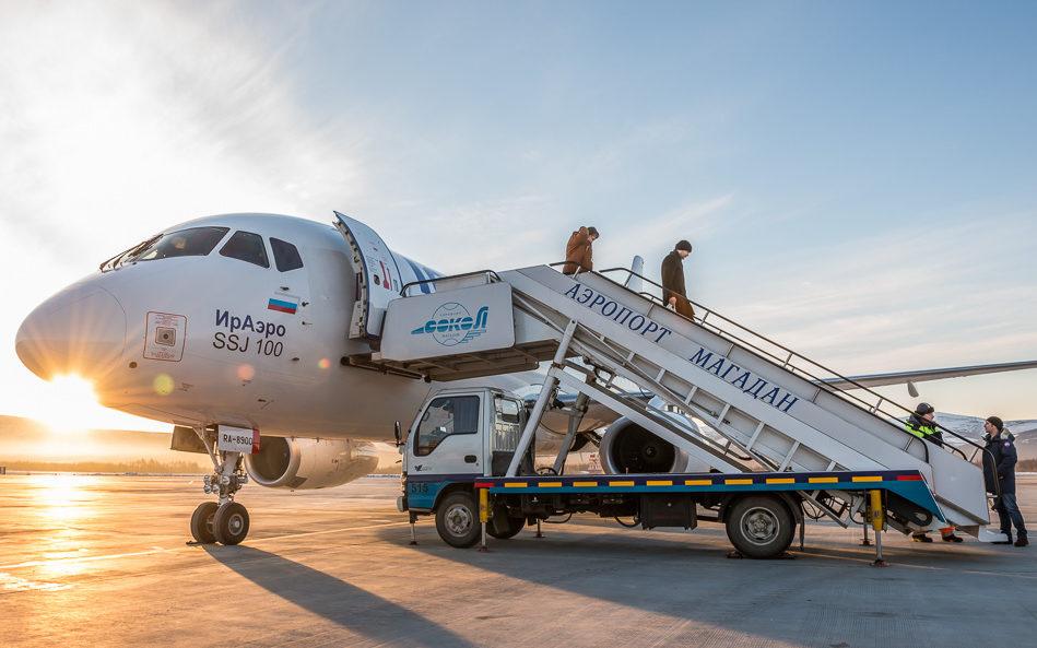 Теперь и в аэропорт Магадана выполняет рейсы Sukhoi Superjet 100
