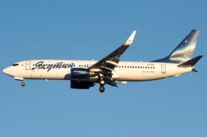 Из-за погодных условий самолет авиакомпании Якутия смог приземлится только с десятого захода