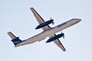 И вновь самолет авиакомпании Bombardier Q400 вернулся в аэропорт вылета