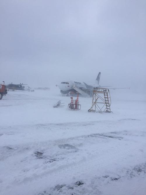 Метель привела к задержки рейсов в аэропорт Южно-Сахалинска