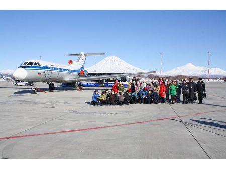 Учащиеся школы побывали на экскурсии в аэропорту Петропавловска-Камчатского
