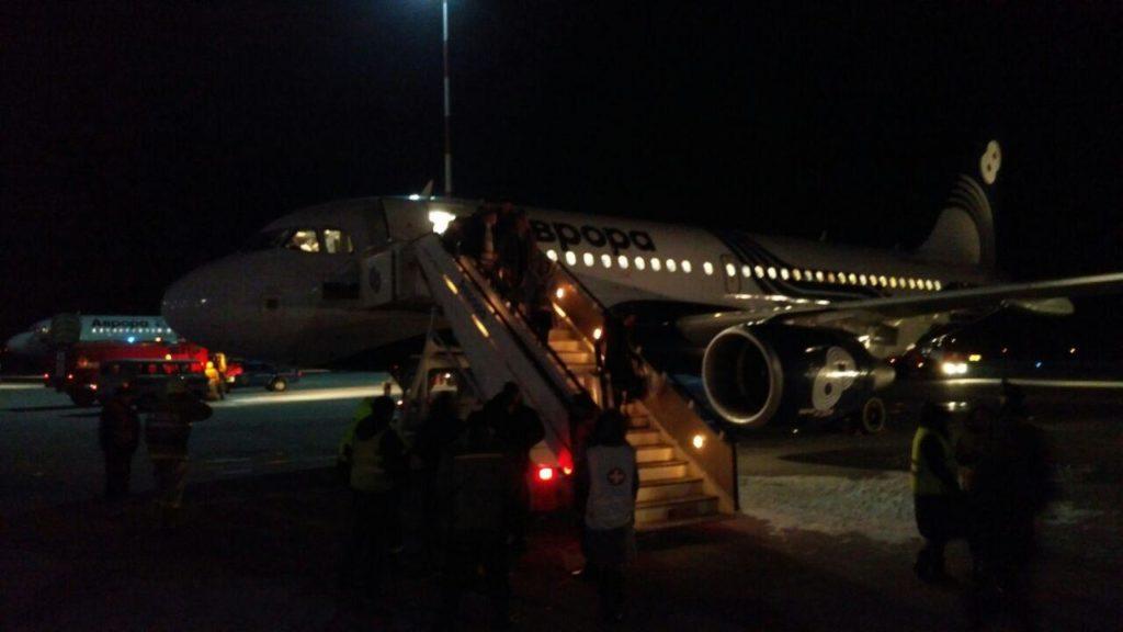 Экстренная посадка самолета в аэропорту Владивостока