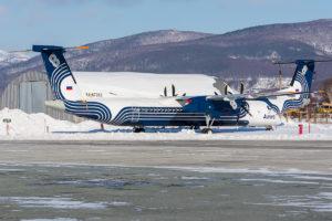 Авиакомпания Аврора продолжает увеличивать количество направлении на которых используется самолеты DHC-8-402Q