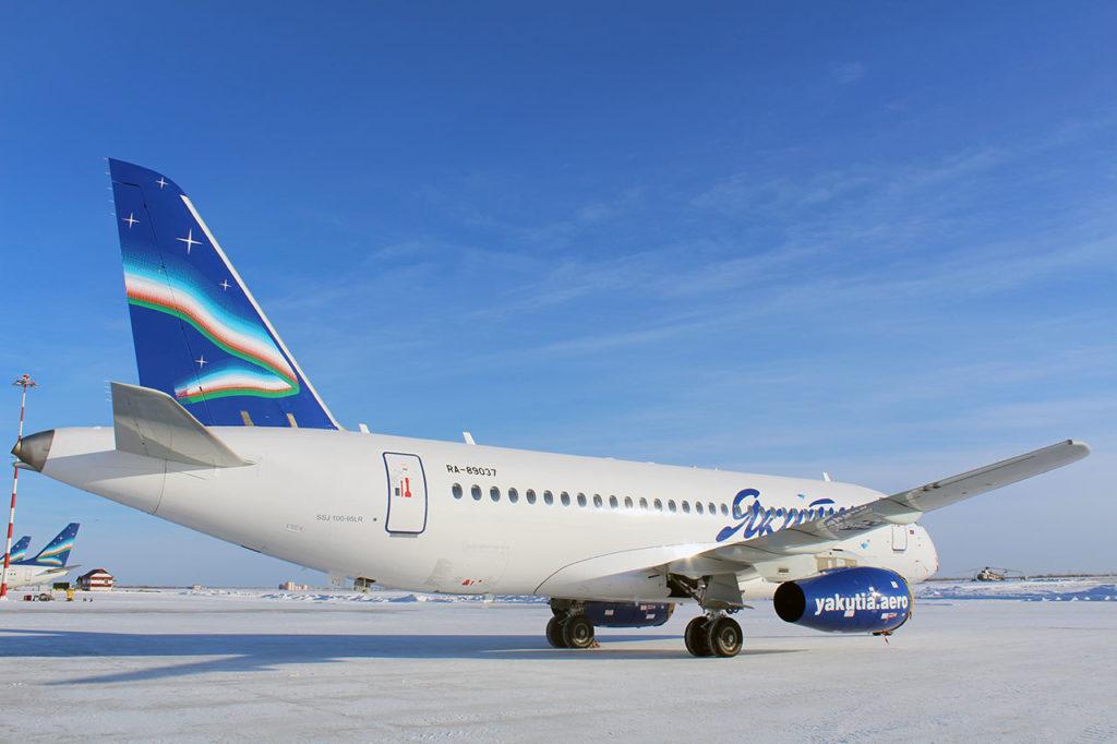 Накануне Дня гражданской авиации авиакомпания Якутия получила пятый Sukhoi Superjet 100